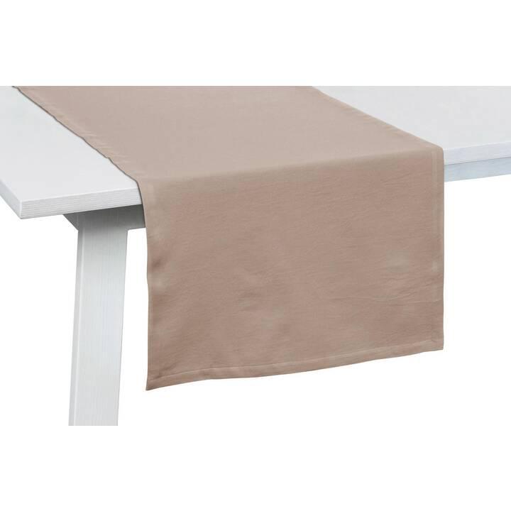 PICHLER Chemin de table One Greige (50 cm x 150 cm, Rectangulaire, Beige)