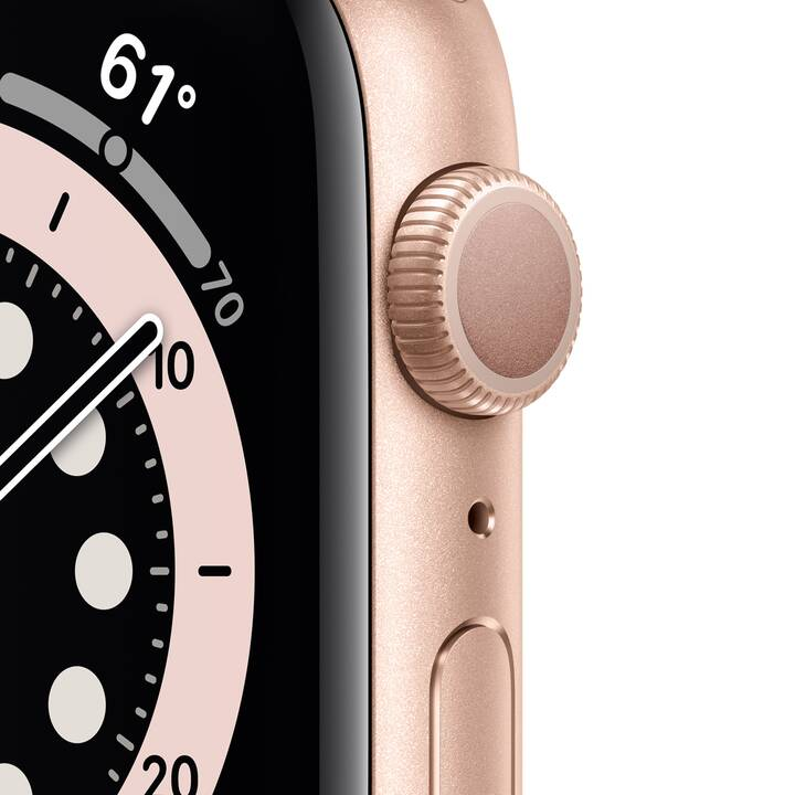 APPLE Watch Series 6 GPS (40 mm, Aluminium, Silikon)