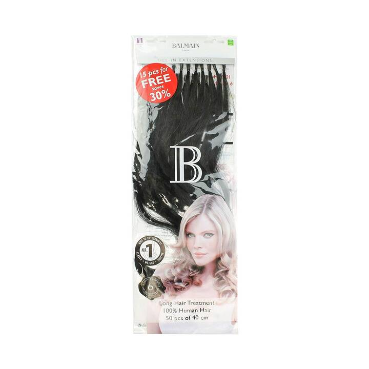 BALMAIN Extension de cheveux 1B Natural Straight (50 pièce)
