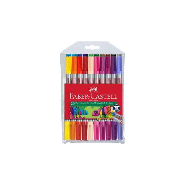 FABER-CASTELL Pennarello (Multicolore, 20 pezzo)