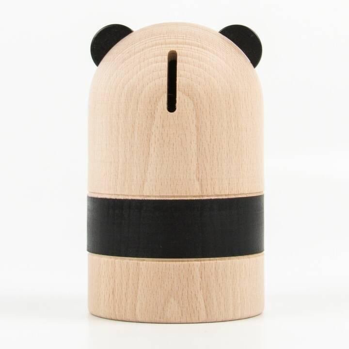 OYOY Panda Tirelire (Brun, Noir)
