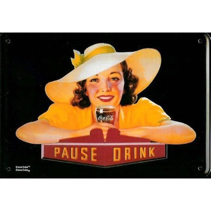 PUAG Targhetta Coca Cola Pause Drink