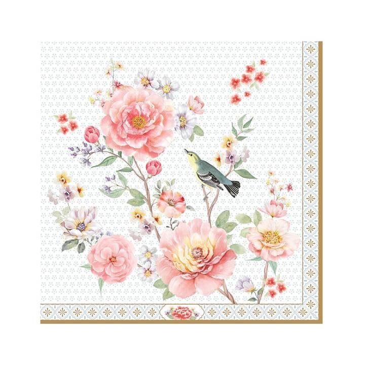 EASY LIFE Tovagliolo di carta A Day in the Garden (33 cm x 33 cm, 20 pezzo, Fiore)