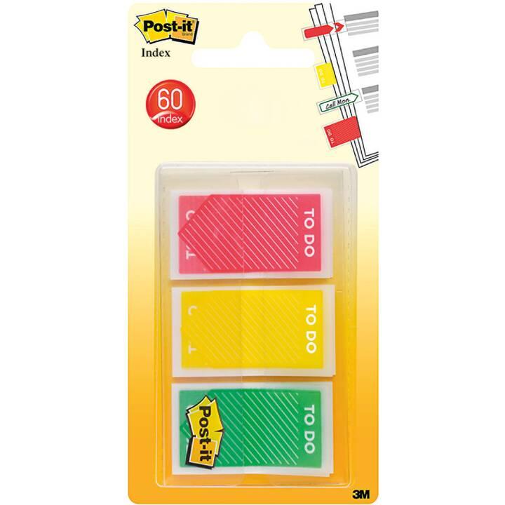 POST-IT Notes autocollantes (23.8 mm x 43.2 mm, Multicolore)