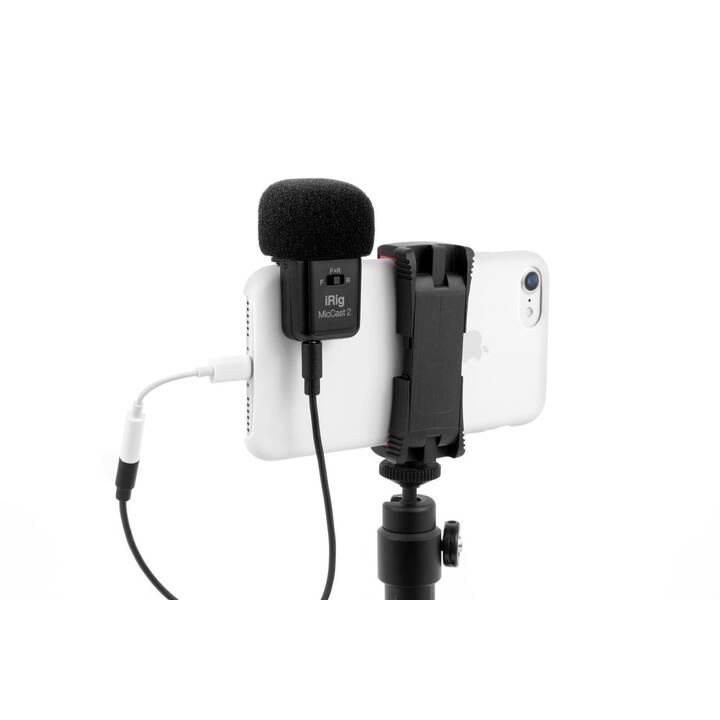 IK MULTIMEDIA iRig Mic Cast 2 Mobilgerätemikrofon (Schwarz, Silber)