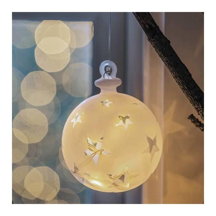 SIRIUS LED Weihnachtskugel Vega Sternmotiv 10cm