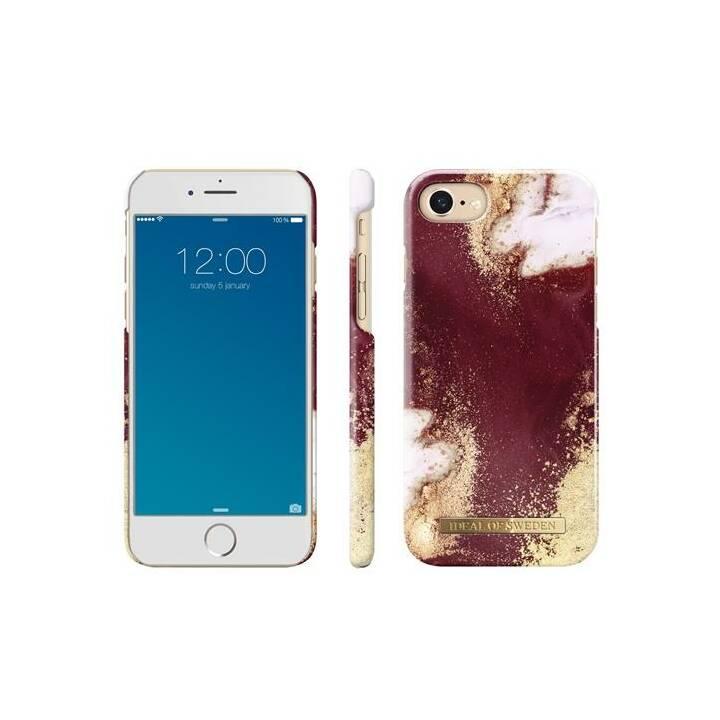 IDEAL OF SWEDEN Backcover Golden Burgundy Marble (iPhone 8, iPhone SE, iPhone 6, iPhone 6s, iPhone 7, Multicolore)