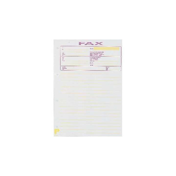 BÜROLINE Fax-Block D/F/I/E A4 bianco 65g 50 fogli