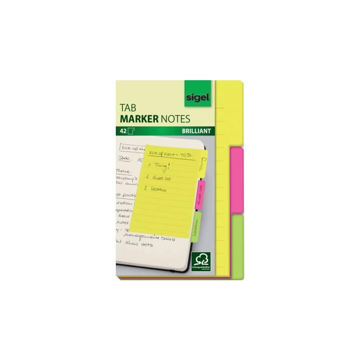 SIGEL TabMarker Notes 3 Farben 98x148mm