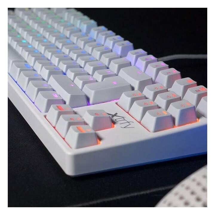 XTRFY K4 TKL RGB White Keyboard (Svizzera, USB)