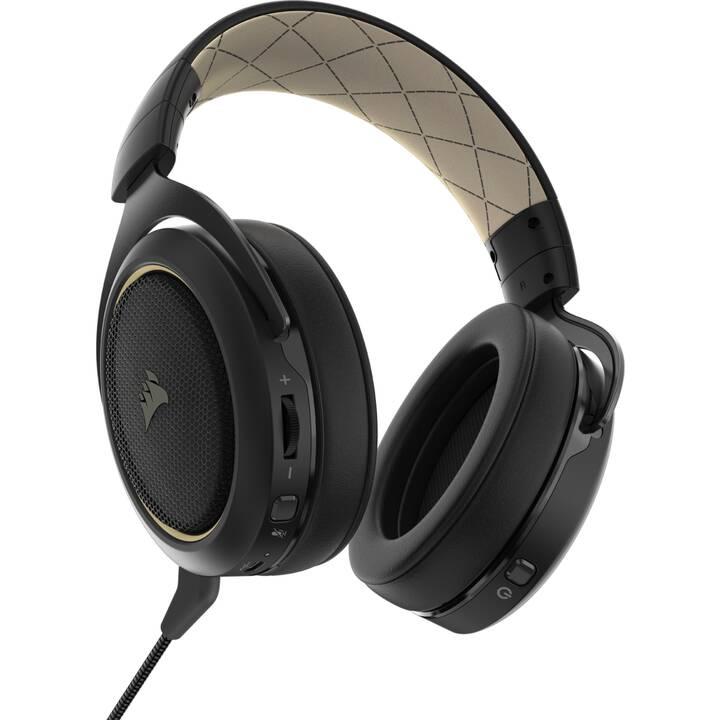 CORSAIR HS70 Pro 7.1 (Over-Ear, radio-fréquence, Crème)