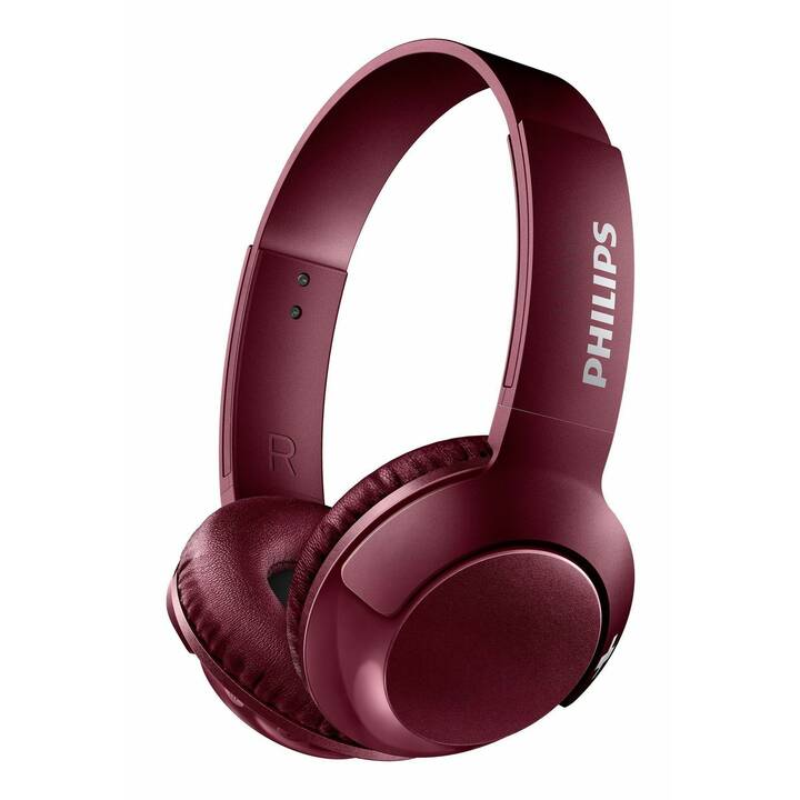 PHILIPS Bass+ SHB3075 (Over-Ear, Bluetooth, Rosso)