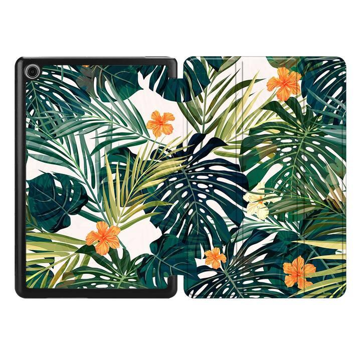 "EG MTT custodia per HUAWEI MediaPad M5 Lite 8"" 2019 - piante tropicali"