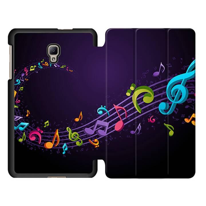 """EG MTT Sacoche pour tablette avec étui pliable Smart pour tablette Samsung Galaxy Tab A 8"""" (2017) - partitions de musique"""