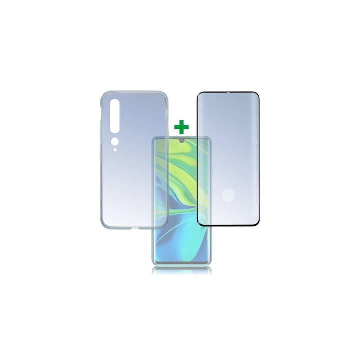 4SMARTS Coque rigide 360° Premium (Mi Note 10, Mi Note 10 Pro, Transparent, Noir)