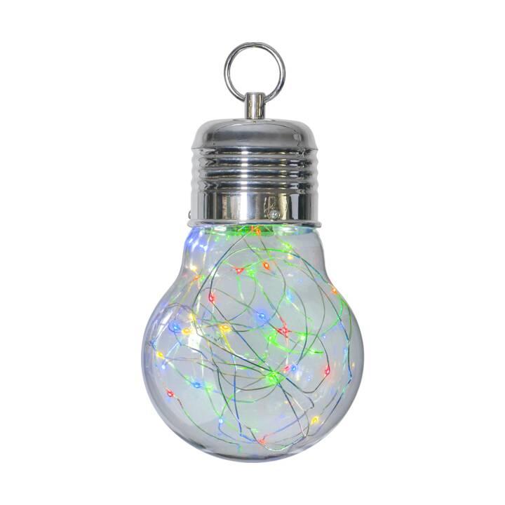STAR TRADING Lampada di vetro Bulby (Transparente, Argento)
