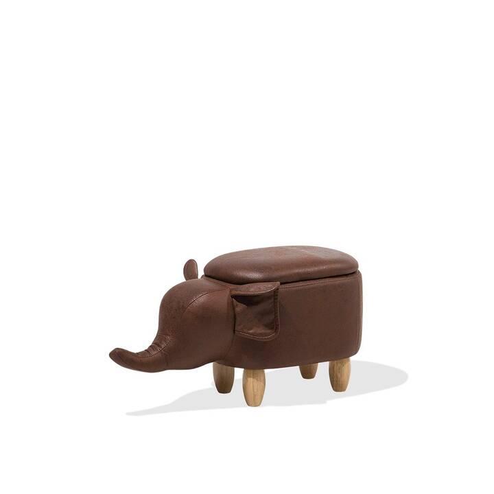 BELIANI Elephant Sgabello seduta (Marrone)