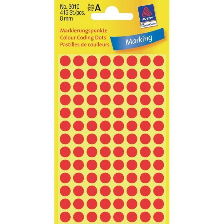 AVERY ZWECKFORM Markierungspunkte rot 8mm