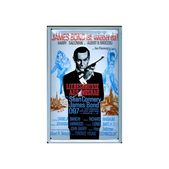 PUAG James Bond Segni deco (20 cm x 1.5 cm, Multicolore)