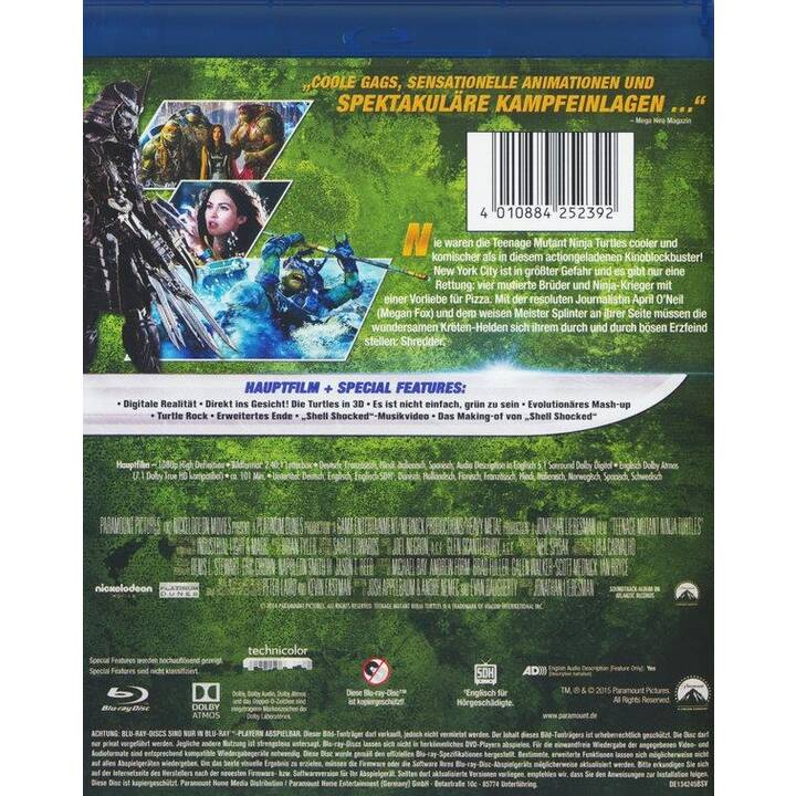 Teenage Mutant Ninja Turtles (ES, IT, HI, DE, EN, FR)