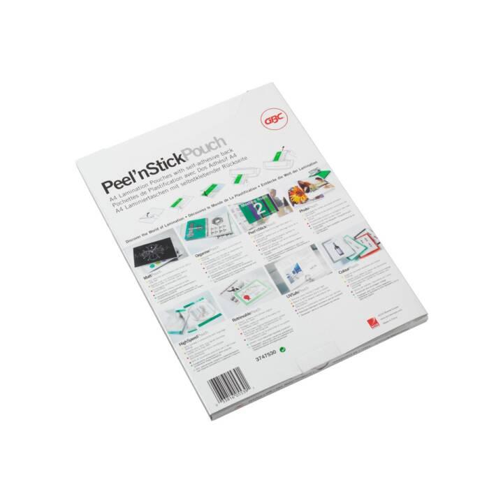 GBC Peel'n Stick tasche laminate, 125 mic, A4, 100 pezzi