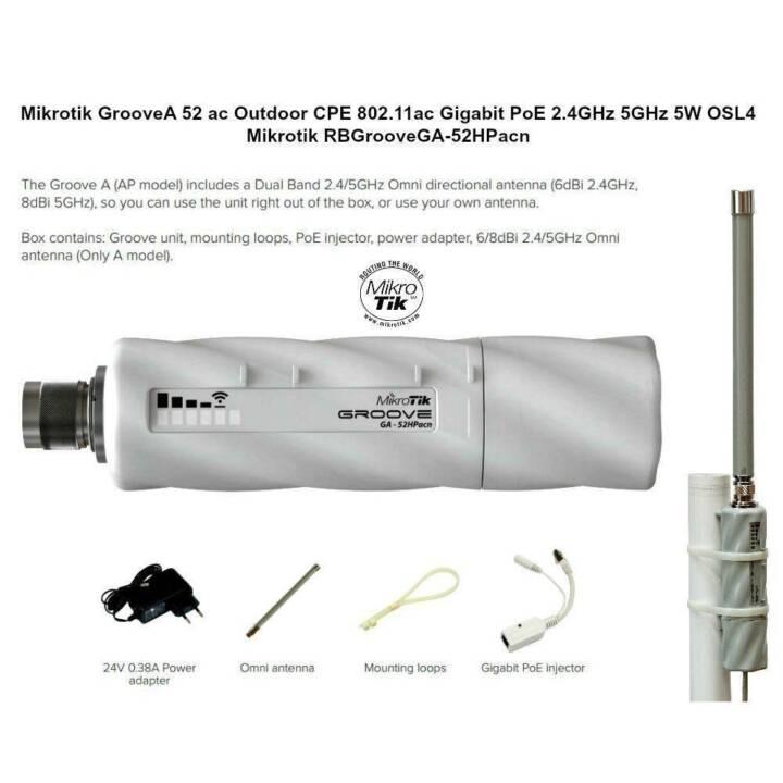 MIKRO TIK RB921UAGS-5SHPACD-NM incl. antenna