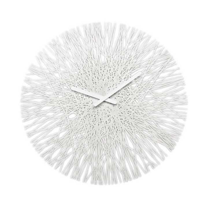 KOZIOL SILK Quartz wall clock Kreis Weiss