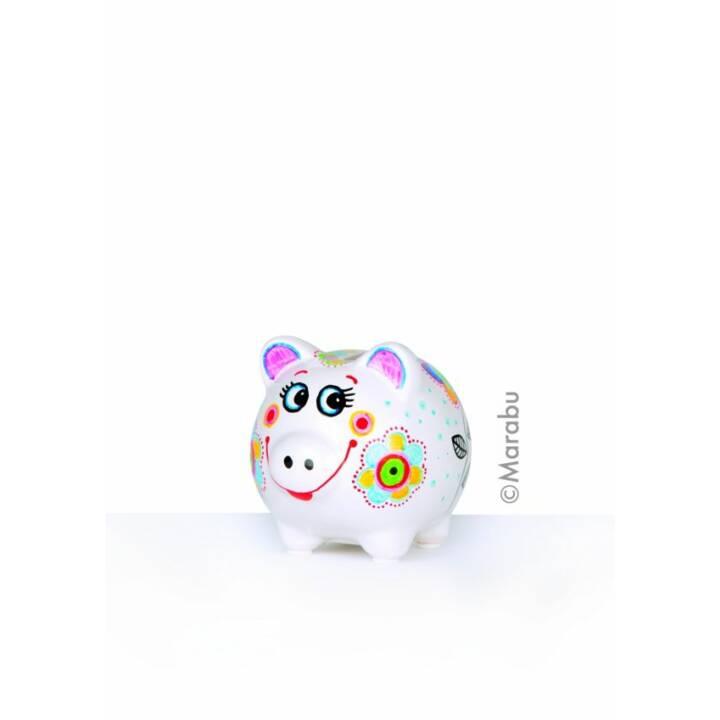 MARABU Textilmarker Porcelain & Glas KIDS Mega Fun (Gelb, Violett, Blau, Schwarz, Türkis, Orange, Rot, Grün, 10 Stück)