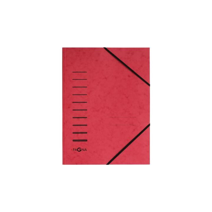 PAGNA chemise à élastique A4 rouge