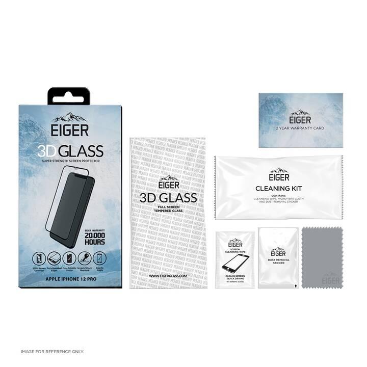 EIGER Vetro protettivo da schermo 3D Glass  (Chiara, iPhone 12 Pro, iPhone 12)