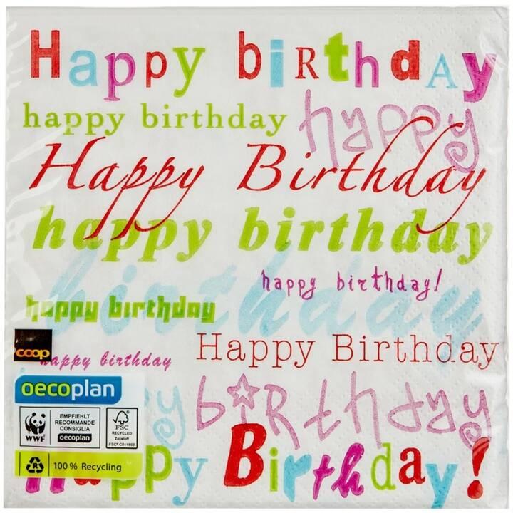 OECOPLAN Papierserviette Birthday FSC  (20 Stk, Geburtstag)