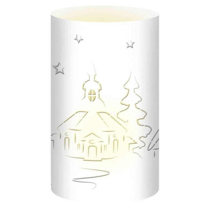 URSUS Weihnachtswindlichter Kirche Weiss