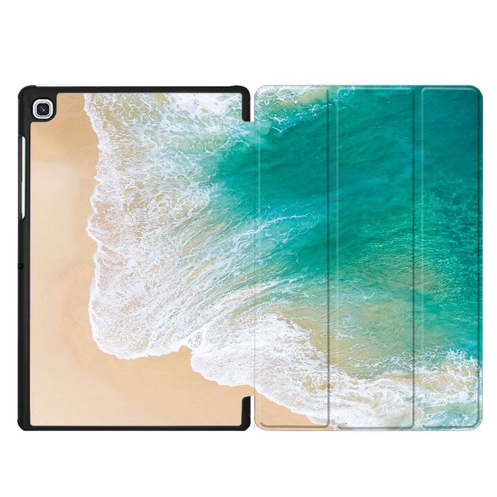 "EG MTT Housse pour Samsung Galaxy Tab S5e 10.5"" 2019 - plage"