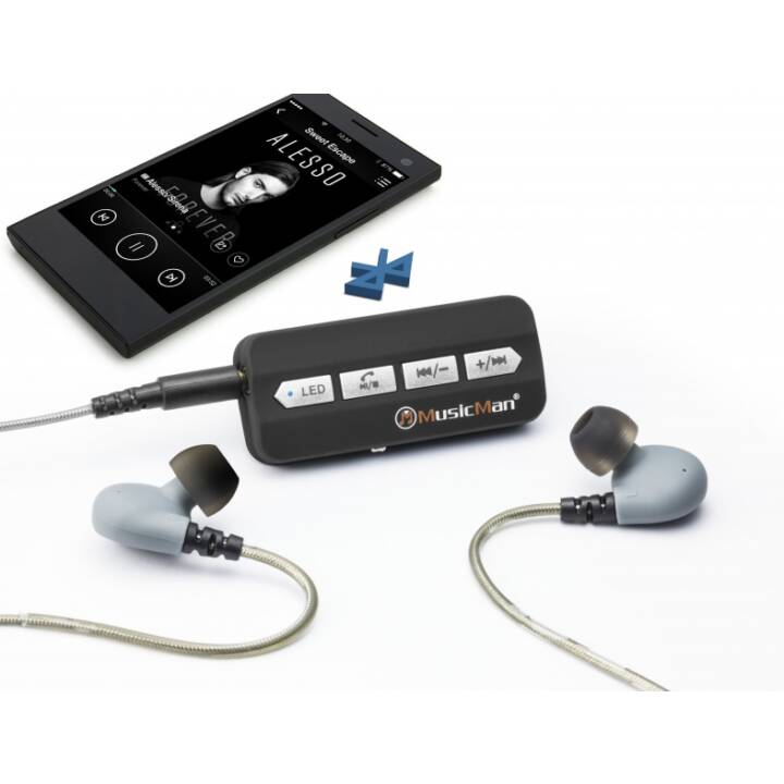 TECHNAXX BT-X24 (In-Ear, Nero, Grigio)