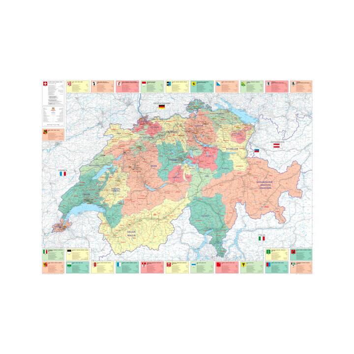 KÜMMMERLY + FREY Office Map Svizzera 1:275'000