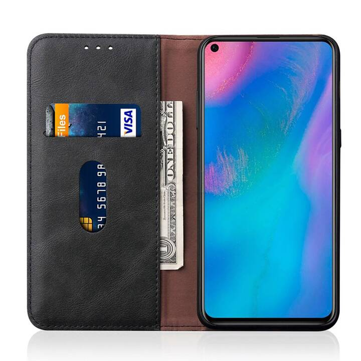 """EG MORNRISE Wallet Case für Samsung Galaxy A50s 6.4"""" 2019 - Schwarz"""