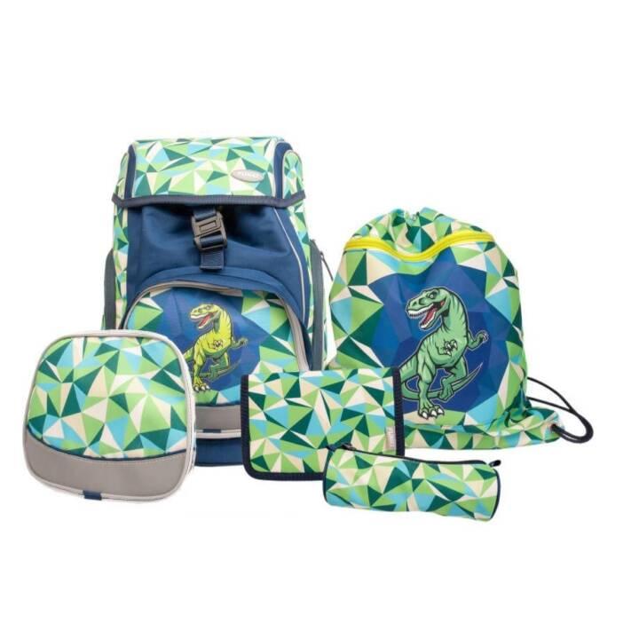 FUNKI Set di borse Joy-Bag Dinosaur (15 l, Blu, Verde)