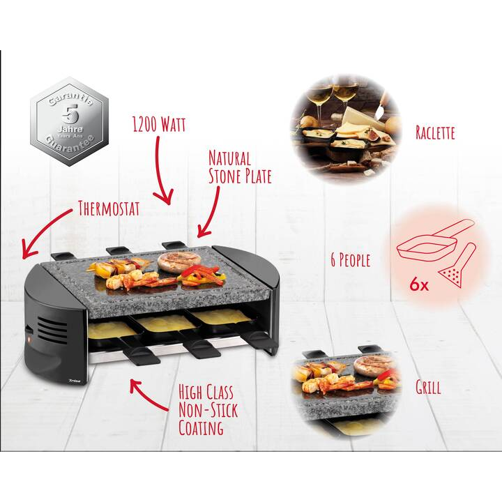TRISA Raclettino 6 Appareils à raclette