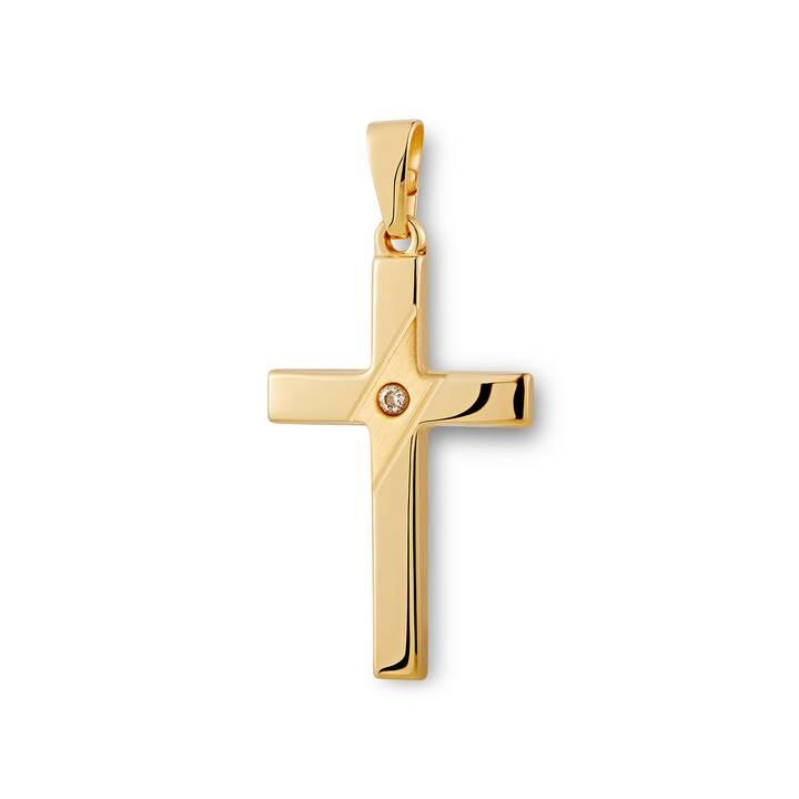 CHRIST Ciondolo (750 Oro, Zirconia)