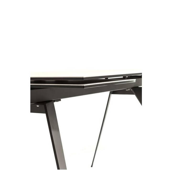 KARE Tavolo da pranzo Amsterdam (160 cm x 90 cm x 76 cm, Marrone, Metallo)