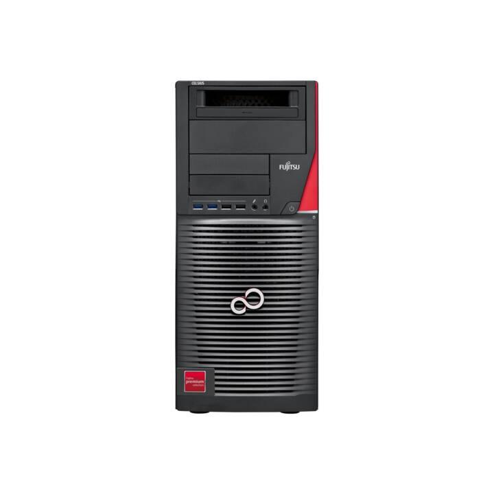 FUJITSU Celsius R970 (Intel Xeon, 48 GB, 512 GB SSD, Noir, Rouge)