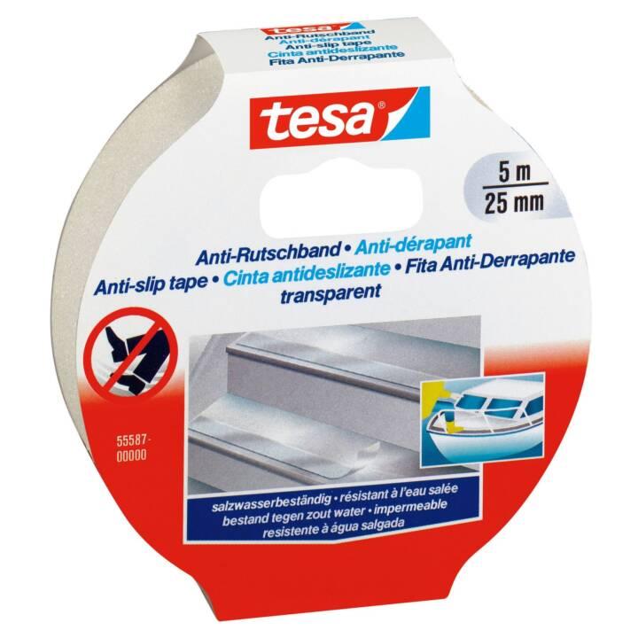 TESA Anti-Rutschband 5 m x 25 mm Transparent