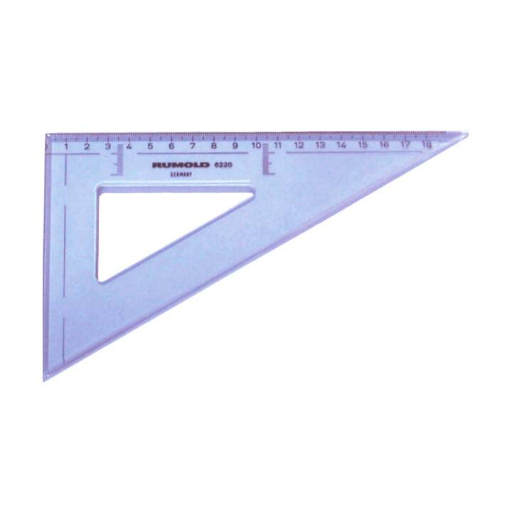 RUMOLD triangle de dessin 16cm 60° gris 60