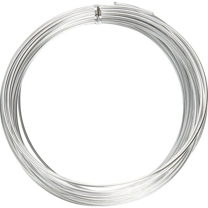 CREATIV Filo di alluminio, 10 m, argento