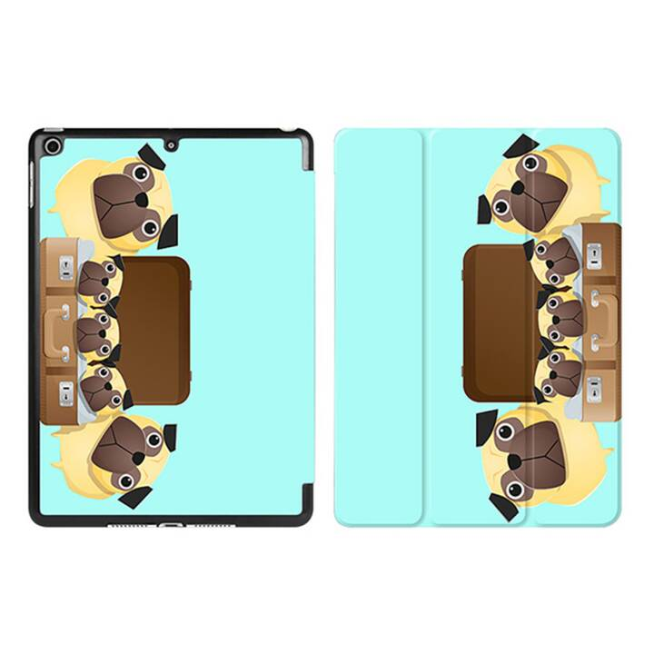 "EG iPad Sleeve pour Apple iPad 9.7"" - Tiffany Blue Cartoon Dogs"