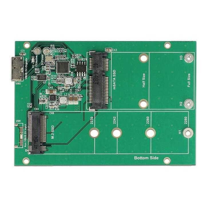 """Telaio di montaggio DELOCK 2.5"""" USB 3.1 per moduli M.2/mSATA"""