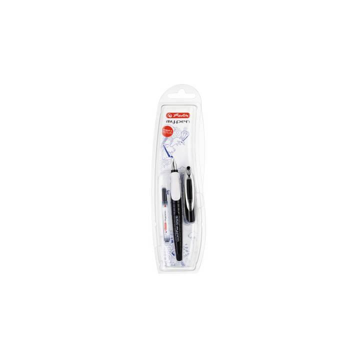 HERLITZ 10999746 Penna(e) stilografica(i) nera, bianca e monopezzo