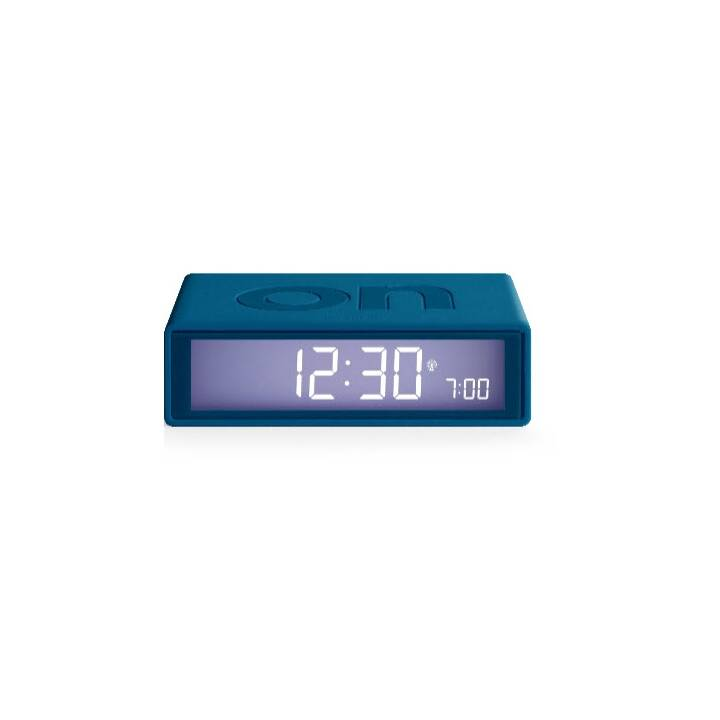 LEXON Flip Clock (Blau, Klassischer Wecker)