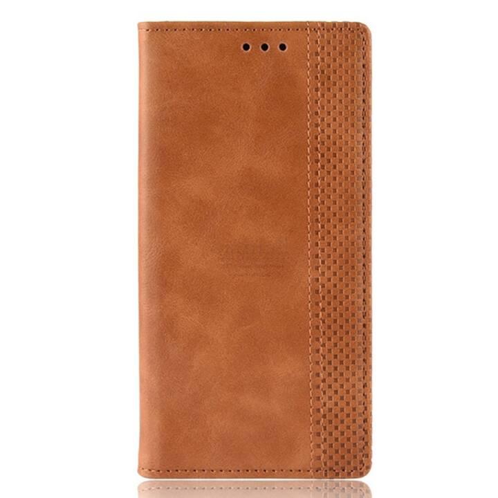 EG Mornrise Custodia a Portafoglio per Samsung Galaxy A30 - Marrone