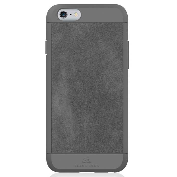 BLACK ROCK Backcover Suede (iPhone 6, iPhone 6s, Grigio)
